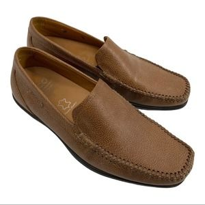 Ecco Mens Loafers Slip on Driving Moc Size 7.5
